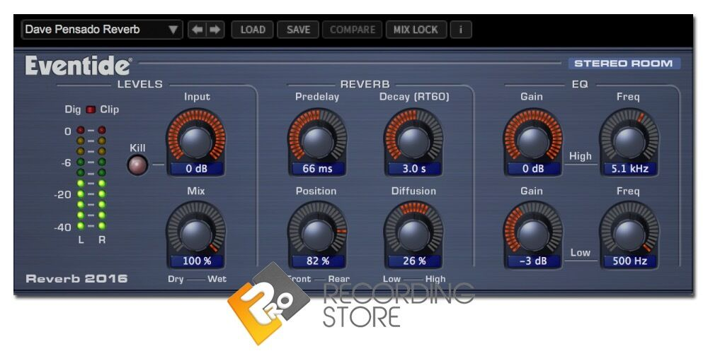 Eventide 2016 Stereo Room Reverb Plugin - AAX VST AU - NEW LICENSE