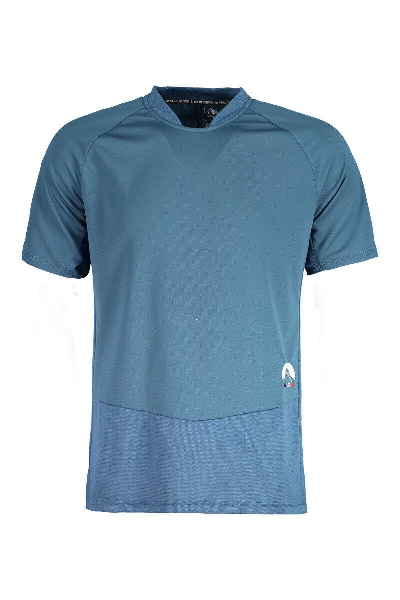Maloja Multisportshirt Camiseta Titusm. Multi 1 2 bluee Antibacteriano