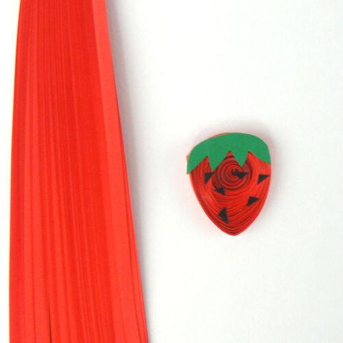 100 tiras de papel Quilling en Rojo Fresa 3mm 5mm y 10mm de ancho