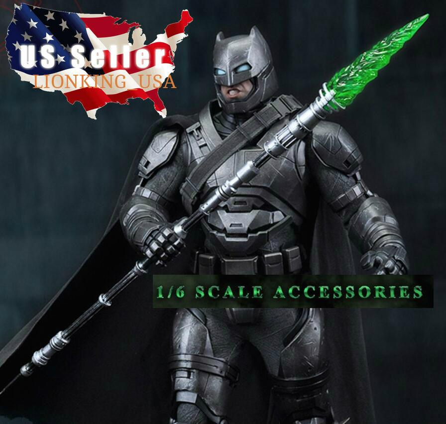 1 6 Green Kryptonite Spear LED Light For Superhero Hot Toys Phicen Figure ❶USA❶
