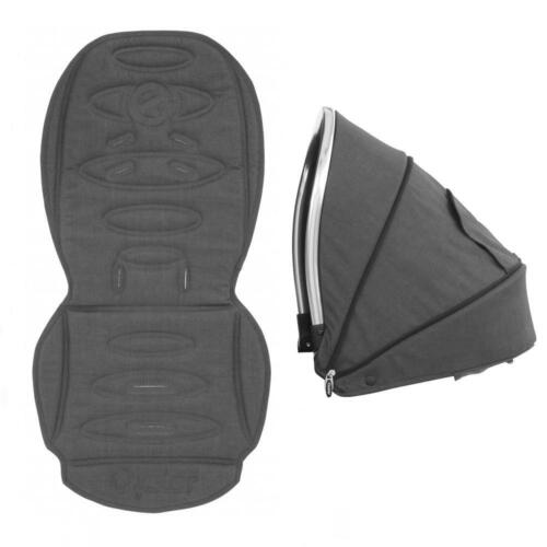 Oyster max//max 2 allongé à plat tandem seat couleur capuche /& siège liner tungstène gris
