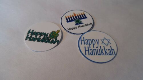 Happy Hanukkah  Free Shipping Pre Cut One Inch Bottle Cap Images