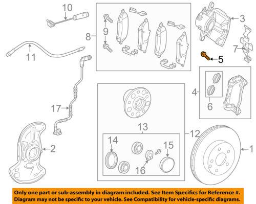 MERCEDES-BENZ-MB OEM Disc Brake Caliper Bracket Mounting Bolt 124 421 04 71