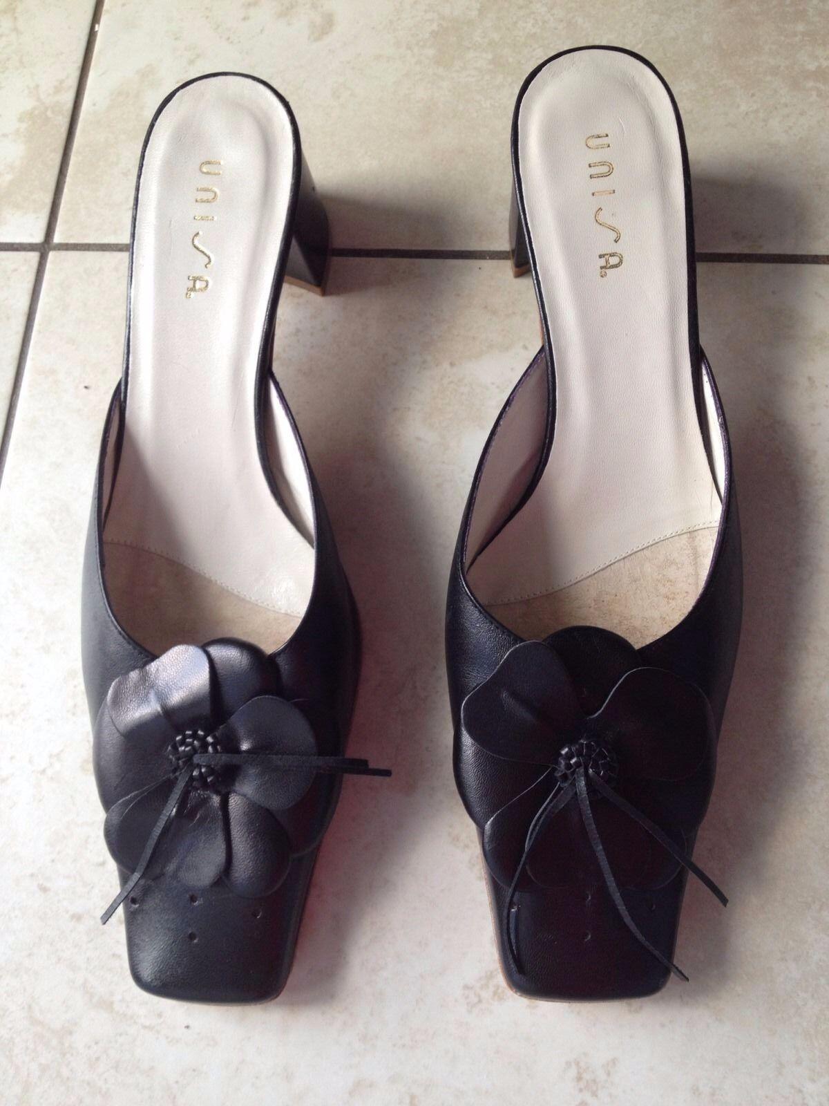 Unisa Black Ladies Heeled Mule Slip On Shoes Size 40   7. Great Condition. c4279b0720