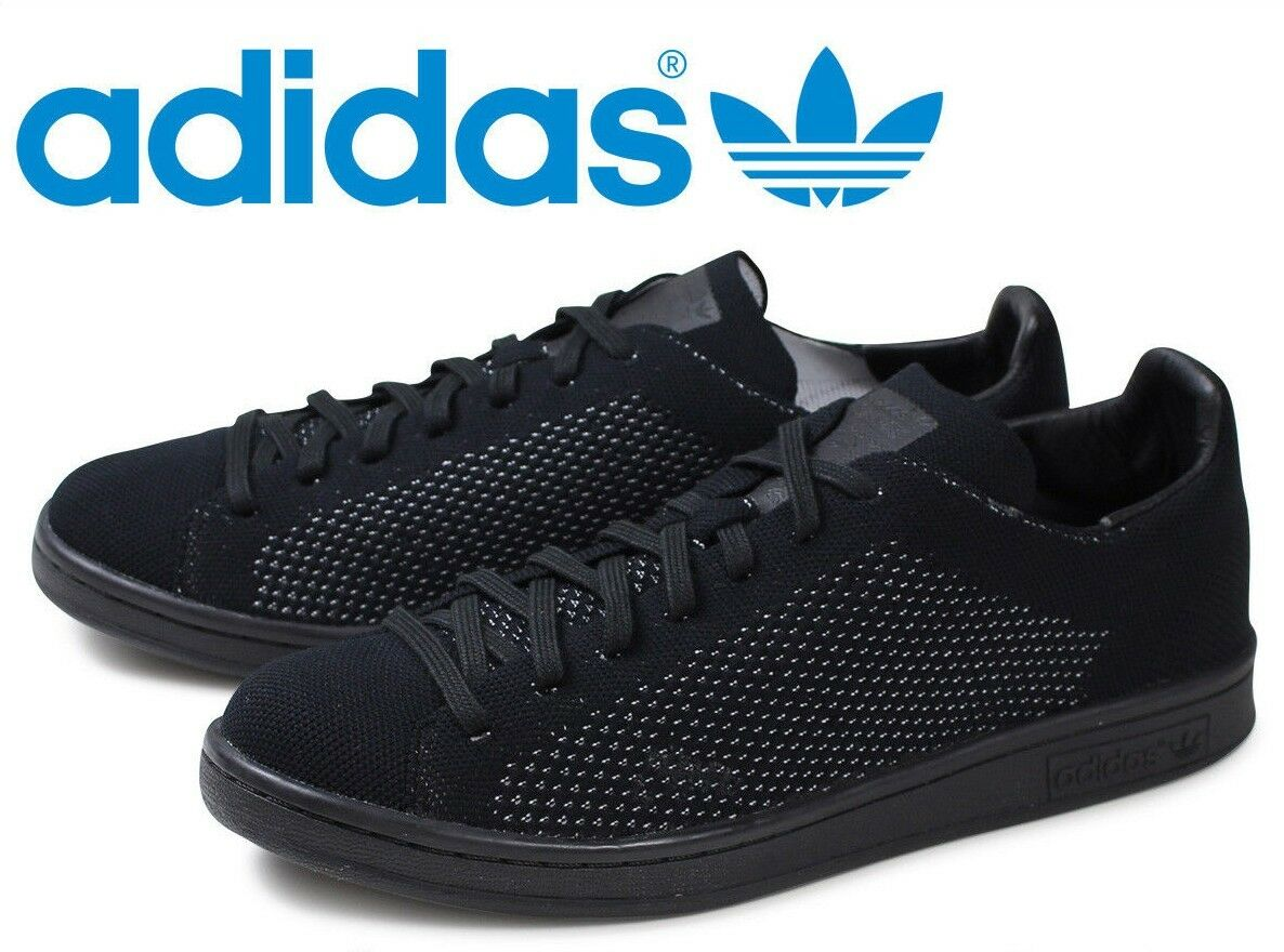 Adidas Originals Stan Smith PK Primeknit Triple Black S80065 Men's sz 8 Shoes