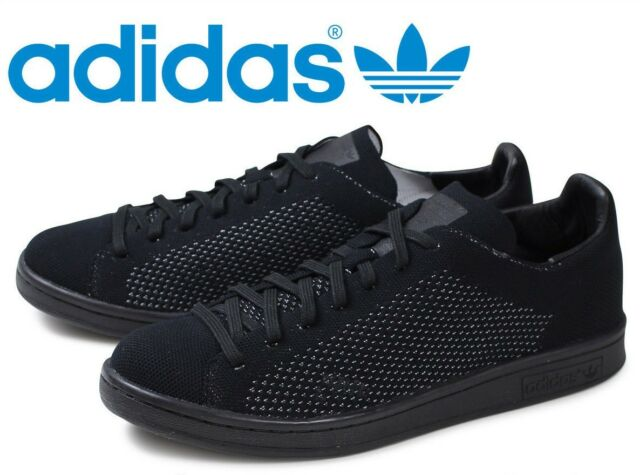bas prix 9a65b 17548 adidas Originals Stan Smith Primeknit Triple Black Men's Tennis Shoes S80065