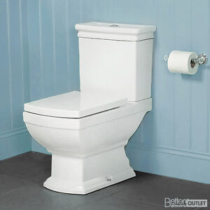 Traditional-Victorian-Close-Coupled-Toilet-Soft-Close-Seat-Bathroom-WC