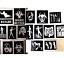 Kit-Para-Tatuar-40-Stencil-Halloween-Brillo-O-Recargas-Stencil-Brillo-Pegamento miniatura 17
