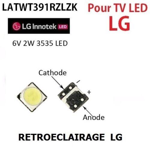 SMD LED 3535, 6V 2w Reparatur Beleuchtung De Fondo TV LG Innotek. Backlight
