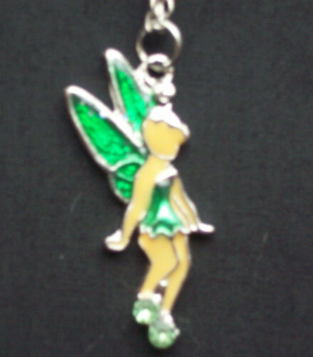 Girls Tinkerbell style Fairy Pendant Necklace GREEN costume accessory   NEW