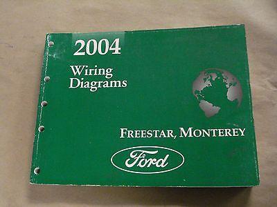 2004 ford freestar monterey workshop service manual wiring diagrams oem  book  ebay