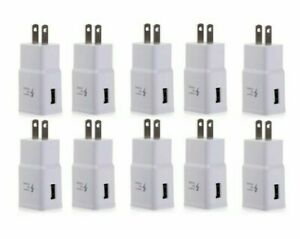 10Pack 2A Fast Charger Adapter USB Home Wall Outlet For Apple iPhone 8 7 Plus XS