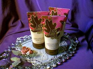 Rare-Set-of-3-Bath-and-Body-Works-Cozy-Autumn-Vanilla-Creamy-Body-Scrubs