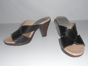Mootsies-Tootsies-Black-Tan-Heel-Sandals-Casual-Sandals-Summer-Shoe-8M