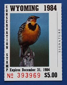 Image Is Loading U S WY01 1984 Wyoming State Conservation Stamp MNH
