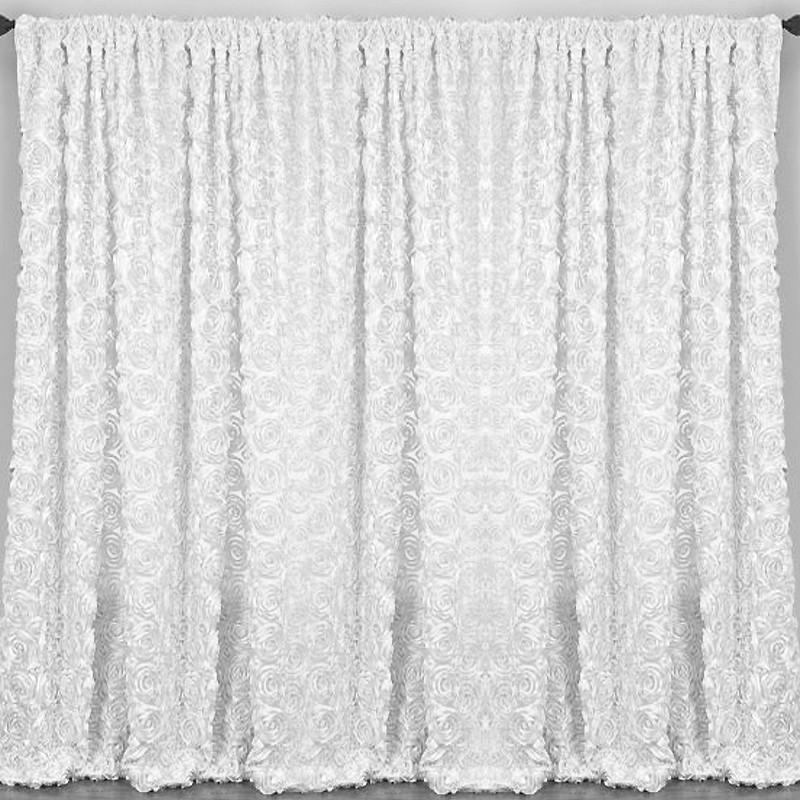 20 ft (environ 6.10 m) x10ft Blanc Grandiose Rosette photographie décors