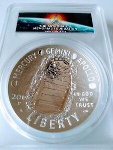 2019-P Apollo 11 50th ann 5oz Commemorative Silver Dollar PCGS PR70DCAM FDOI AMF