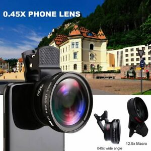 564fb497fb6f43 2 in 1 Universal Wide Angle Macro Clip Lens Kit For iPhone iPad ...