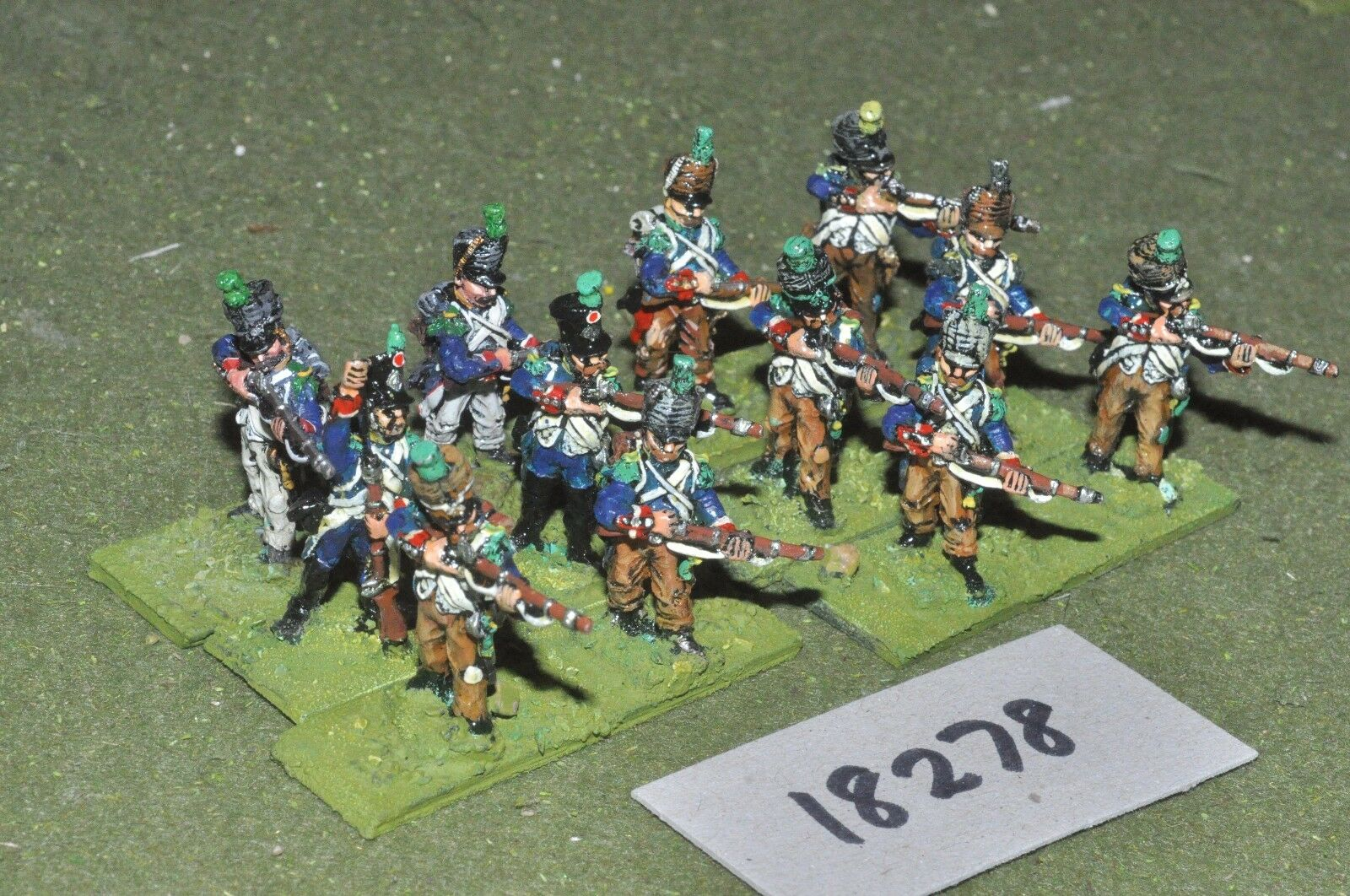 25mm napoleonic   french - infantry 12 figs - inf (18278)