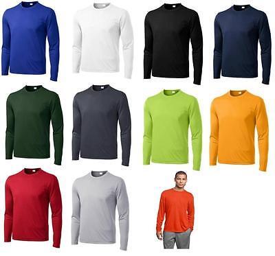 Mens Dri-Fit Long Sleeve Sport Tek Moisture Wicking Workout T-Shirt ST350LS