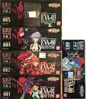9 Eva Bandai Model Kits Neon Genesis Evangelion Limited Plastic Figure Lot