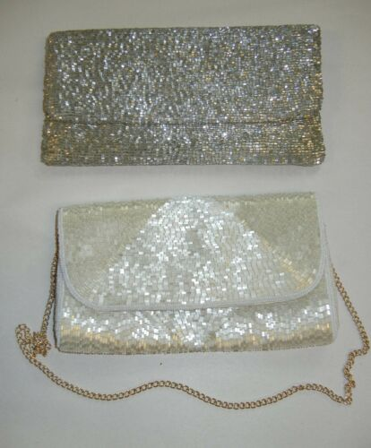 Silver Beaded Moyna Purse and Similar Purse Lot Vi