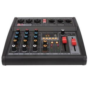 PYLE PMX462 3-Channel Audio Mixer With Subwoofer Output, Bluetooth & USB Interface Canada Preview