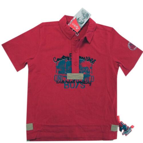 SIGIKID Maglietta a Maniche Corte T-shirt Polo con stampa ragazzo rosso cotone mis 98,116