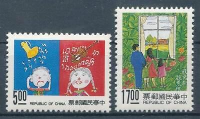 Briefmarken 277064 China China Taiwan Nr.2122-2123** Umweltschutz Kinderzeichnungen GläNzend