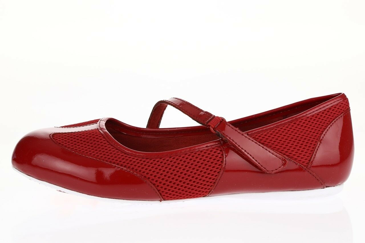 Damenschuhe SOFTWALK 226591 ROT Leder Mary Jane sporty flats sz. 7.5 W