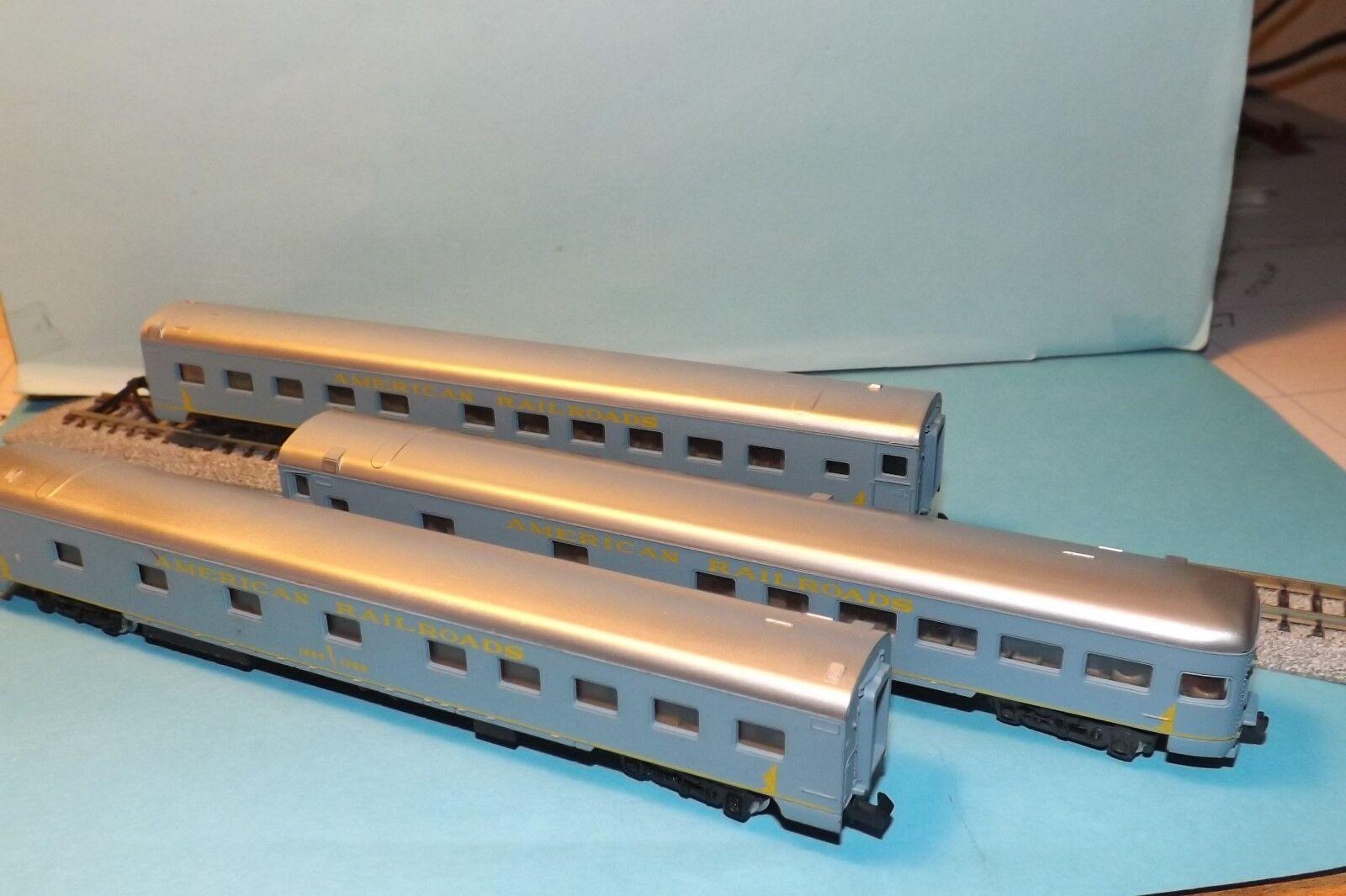 N-Scale RIVEROSSI AMERICAN RAILROADS SET (3 CARS)
