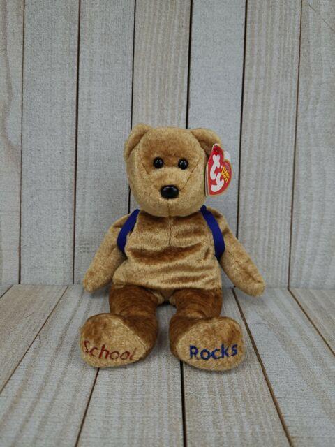Ty Beanie Baby ABC's Bear DOB August 22, 2006 MWMT School Rocks