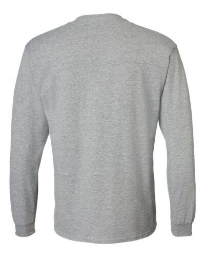 Gildan Adult 50//50 Cotton Blend Long Sleeve T-Shirt Mens Size S-3XL Tee g8400