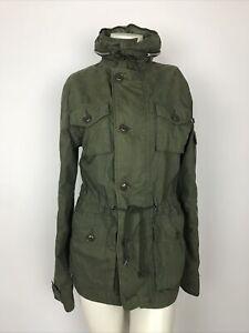 Alpha-Industries-Women-s-Size-XS-Field-Coat-Jacket-Green-Full-Zip-Hidden-Hood