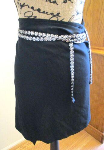 Ann Demeulemeester Wrap Mini Skirt, Black, Silver