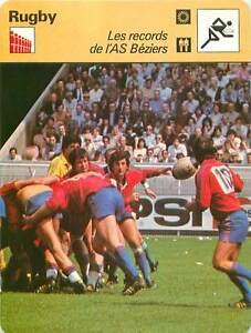 FICHE-CARD-28-5-1978-Les-records-AS-Beziers-Montferrand-France-RUGBY-a-XV-1970s