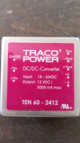 TEN 60-2412 TRACO POWER DC//DC Converter 24V to 12V 5A