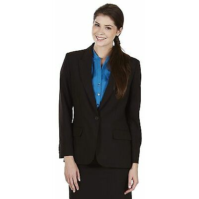 Simon Jersey Ladies Wool Mix One Button Suit Jacket Chocolate
