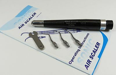 Dental Borden Air Ultrasonic Scaler Handpiece 2 Holes Borden with 3 Tips SONIC
