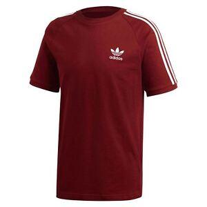 47fb0007ac34c La imagen se está cargando Adidas-Originals-Adicolor-California-Camiseta- Rojo-Cuello-Redondo-