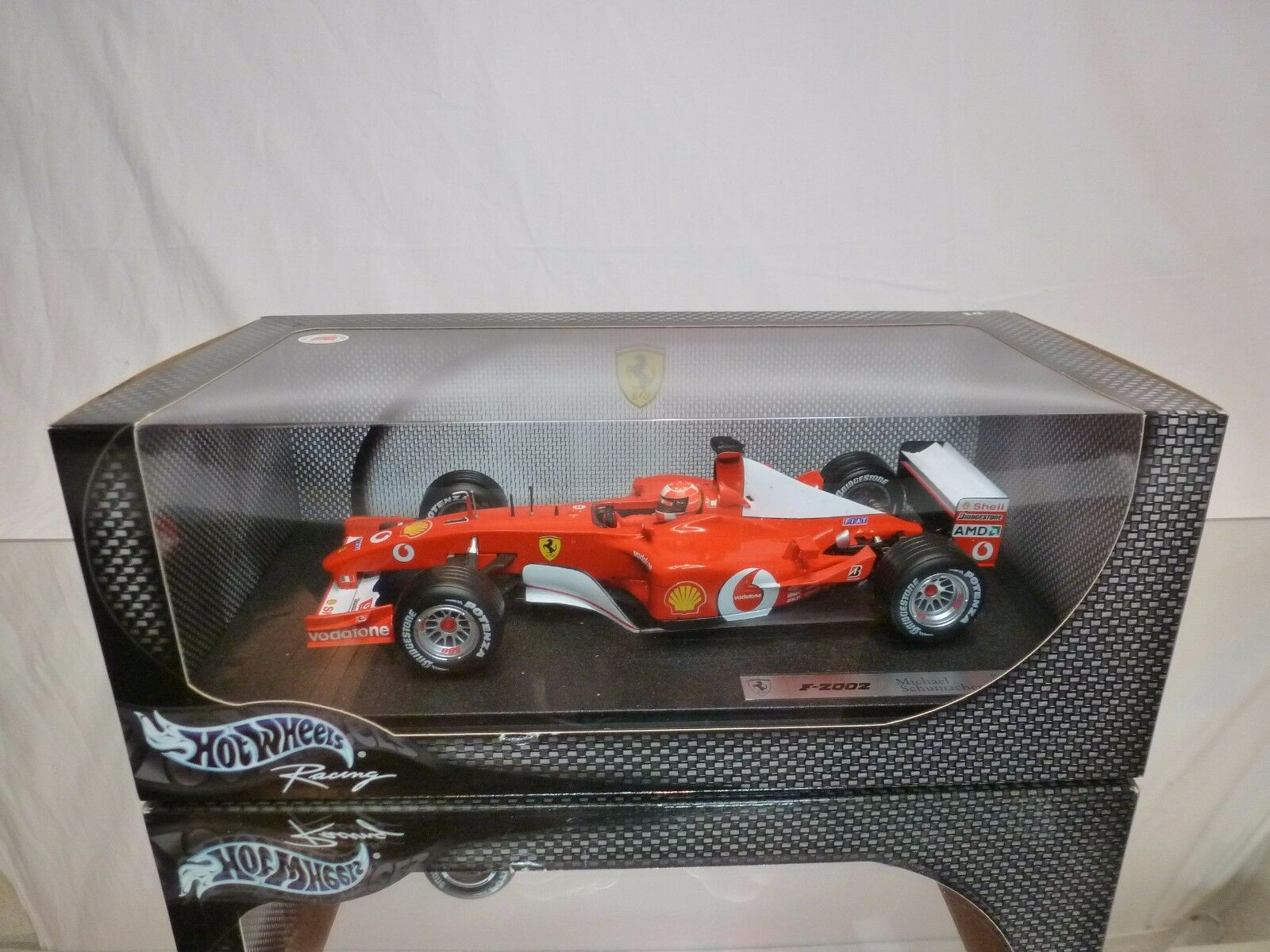 HOT WHEELS 54626 FERRARI F-2002 - SCHUMACHER F1 rojo 1 18 RARE - EXCELLENT IN BOX
