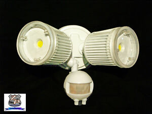 led outdoor security flood light with motion sensor photocell 2137
