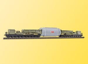 Kibri-H0-16507-MAN-Schienentiefladewagen-mit-Generatorstator-Bausatz-OVP