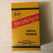 Vintage Unopened Prophylactic Pro-Phy-Lac-Tic Brand Tooth Powder Paper Box USA