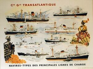 """""""steamers collection and shipping companies"""" 98 posters original parasol"""