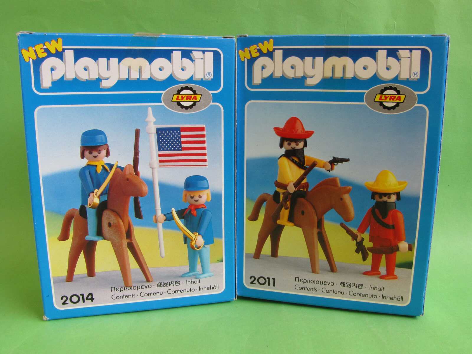 Lot Of  2 Original Playmobil Nuovo Mexican Bandits  2011 2014  Lyra 1978 MISB OVP