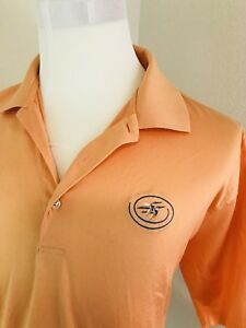 Peter Millar Golf Polo Shirt Men S Size Xl Orange Duck Logo Ebay