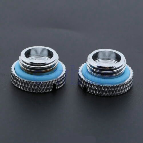 2Pcs G1//4 Thread Low Profile Stop Plug Fr PC Water Cooling Radiator Reservoir HM