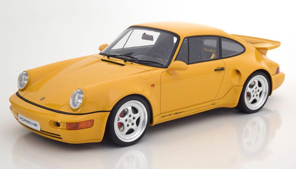 Cmr 1993 Porsche 911 (964) Turbo S Leichtes Gewicht Gelb Super Groß Auto 1 12