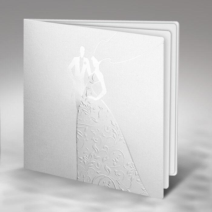 Einladungskarte Hochzeit 1165 mit Umschlag  Mit oder ohne Druck- Hochzeitskarte